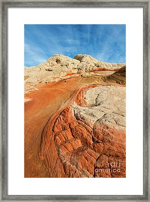 Cracks And Swirls Framed Print by Mike Dawson