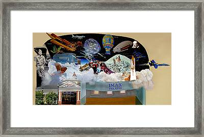 Cradle Of Aviation Museum Imax Theatre Framed Print by Bonnie Siracusa