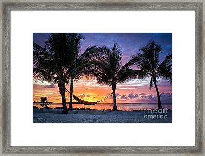 Cradling The Sun At Happy Hour Framed Print by Rene Triay Photography