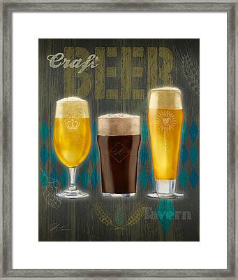 Craft Beer Framed Print by Shari Warren