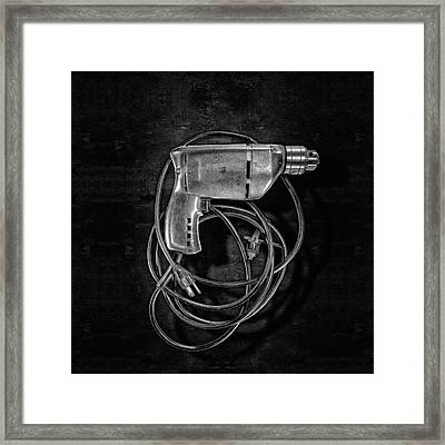 Craftsman Drill Motor Bs Bw Framed Print by YoPedro