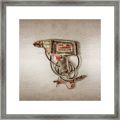 Craftsman Electric Drill Motor Framed Print by YoPedro