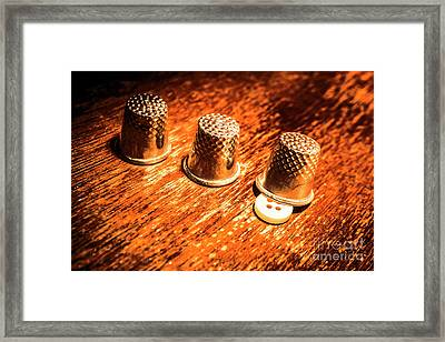 Crafty Alterations Framed Print