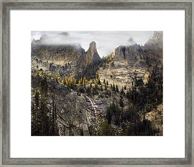 Crag Mountains Framed Print by Leland D Howard