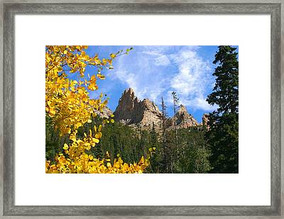 Crags In Fall Framed Print