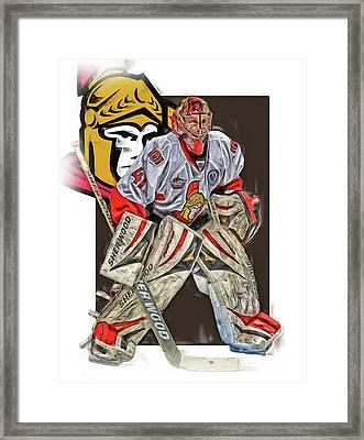 Craig Anderson Ottawa Senators Oil Art Framed Print