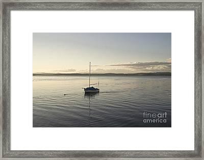 Cramond. Boat. Framed Print