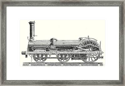 Crampton Locomotive Framed Print by English School