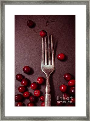 Cranberries And Fork Framed Print by Ana V Ramirez