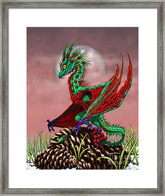 Framed Print featuring the digital art Cranberry Dragon by Stanley Morrison