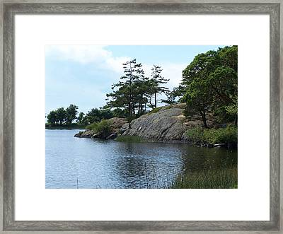 Cranberry Lk. Whidbey Island Framed Print by Gene Ritchhart