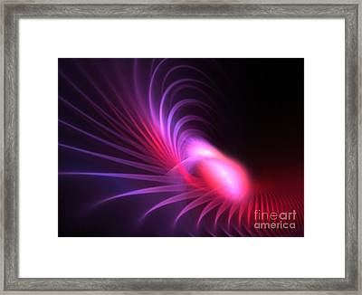 Cranberry Plumes Framed Print