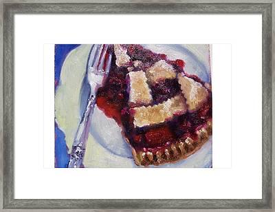 Cranberry Raisen Pie         Framed Print by Susan Jenkins