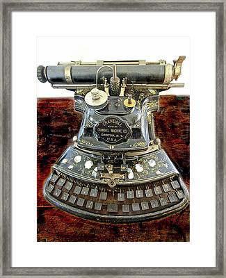Crandall Type Writer 1893 Framed Print