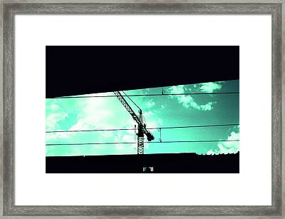 Crane And Shadows Framed Print
