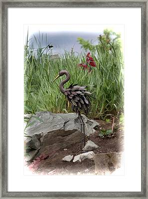 Framed Print featuring the photograph Crane by Cherie Duran