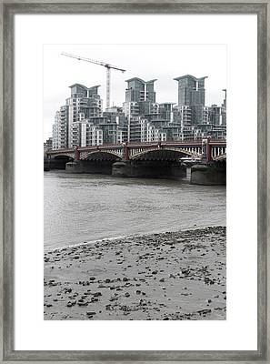Crane For Your Pad Framed Print by Jez C Self