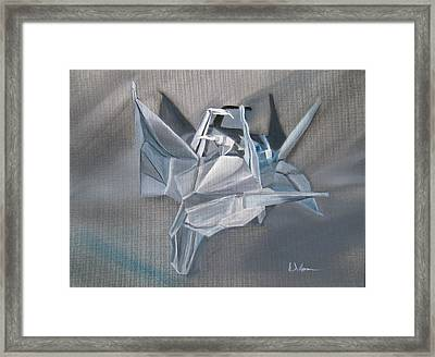 Crane Pile Framed Print by LaVonne Hand
