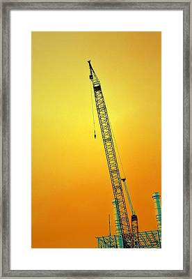Crane With Towers Framed Print