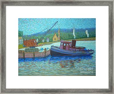 Cranes And Spires Framed Print