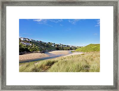 Crantock And The Gannel Framed Print by Terri Waters
