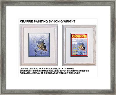 Crappie Magazine And Original Framed Print