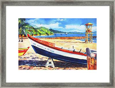 Crash Boat Beach Framed Print by Estela Robles