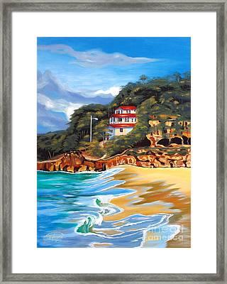 Crash Boat Beach Framed Print by Milagros Palmieri