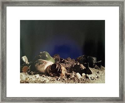 Crash In Space Framed Print