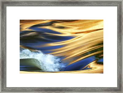 Crash Of Color Framed Print by Sue Cullumber