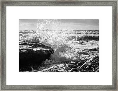 Wave Crashing  Framed Print