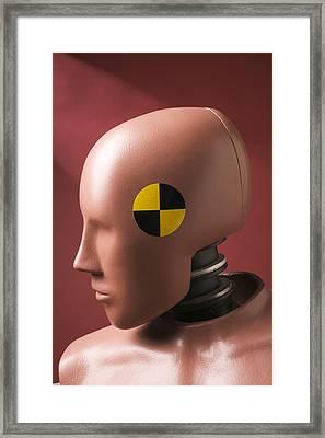 Crash Test Dummy Framed Print by Garry Gay