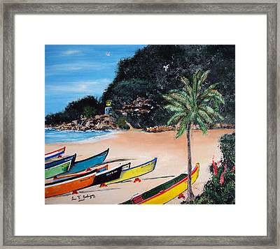 Crashboat Beach I Framed Print