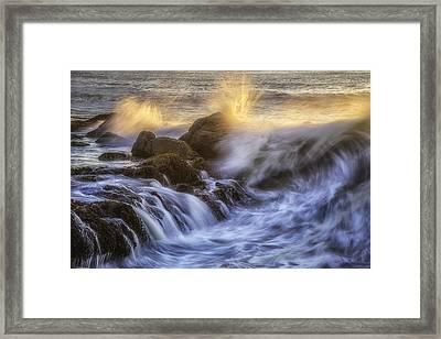Crashing Light Framed Print by Darren  White