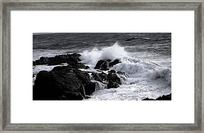 Crashing Framed Print by Sarah Jean Sylvester