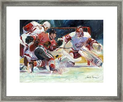 Crashing The Net Framed Print by Gordon France
