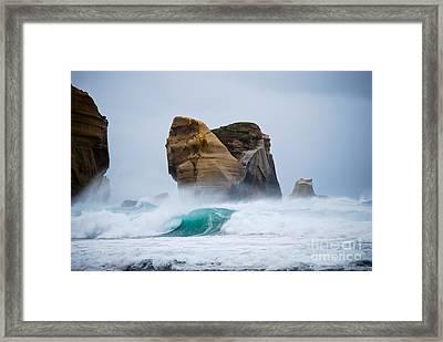 Crashing Wave Framed Print by Cesar Marino