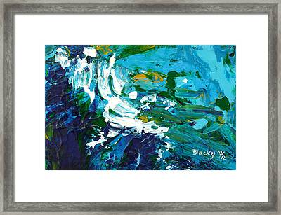 Crashing Wave Framed Print by Donna Blackhall