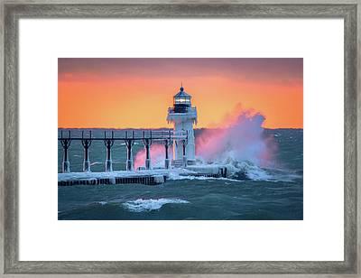 Crashing Wave  Framed Print by Jackie Novak