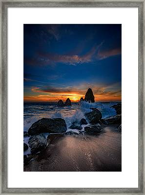 Crashing Waves At Rodeo Beach Framed Print