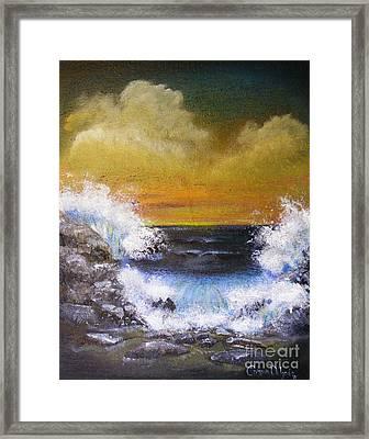 Crashing Waves Framed Print by Crispin  Delgado