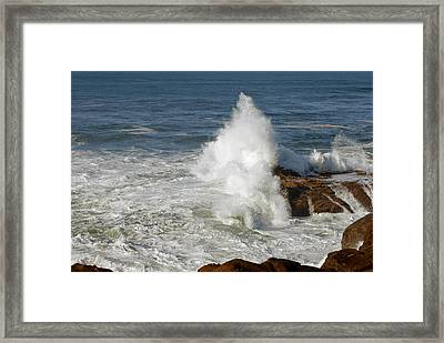 Crashing Waves Framed Print by Curtis Gibson