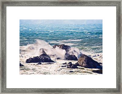 Framed Print featuring the photograph Crashing Waves by Kim Wilson