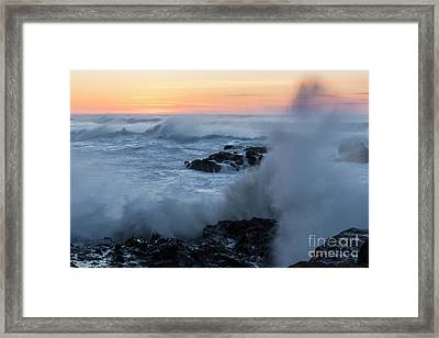 Crashing Waves Framed Print by Masako Metz