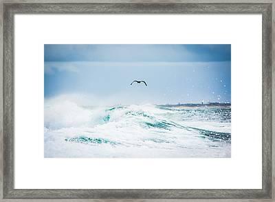 Crashing Waves Framed Print by Parker Cunningham
