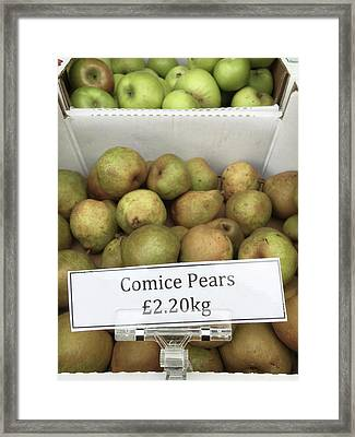 Crate Of Pears Framed Print