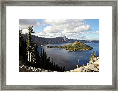 Crater Lake - Intense Blue Waters And Spectacular Views Framed Print