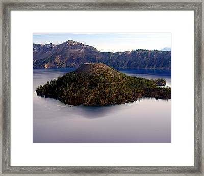 Crater Lake 1 Framed Print by Marty Koch