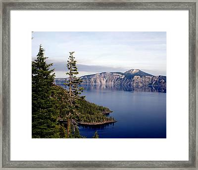 Crater Lake 3 Framed Print by Marty Koch