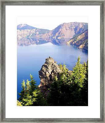 Crater Lake 4 Framed Print by Marty Koch